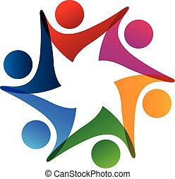 Logo team holding hands