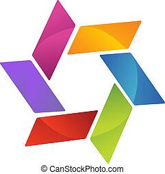 logo, teamwork, affär