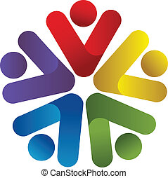 logo, teamwork, bedrijf, zakelijk