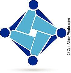 Logo teamwork business
