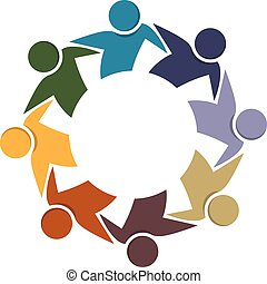 Logo teamwork business people in a hug