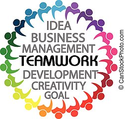 Logo teamwork business people union concept