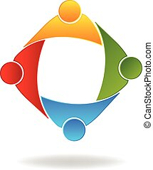 Logo teamwork business people