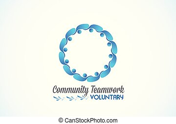 Logo teamwork community business people