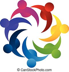 Logo teamwork concept of business