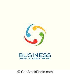 logo, teamwork, design