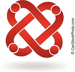 logo, teamwork, folk
