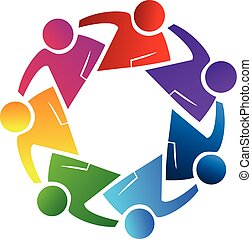 Logo teamwork friends concept