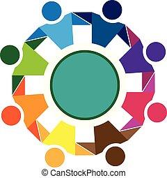 Logo teamwork friendship community