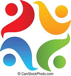 logo, teamwork, klemme