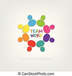 logo, teamwork, mensen