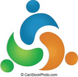 logo, teamwork, pojęcie