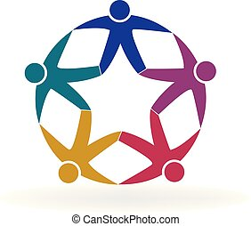Logo teamwork star people