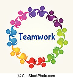 Logo teamwork successful people