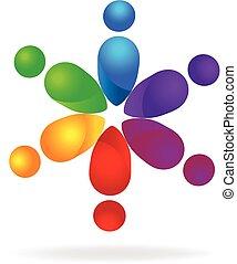 Logo teamwork union people - Vector of teamwork union people...