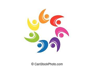 Logo teamwork unity people