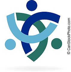 Logo teamwork unity trial people