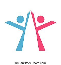 logo, teamwork, vrijstaand