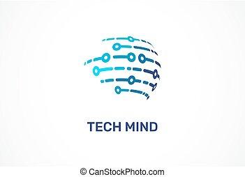 logo, -, technologie, technologie, icône, et, symbole