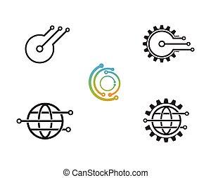 logo, technologie, vectors, -, icône