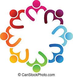 logo, teilen, 8, herz