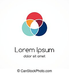 Logo template. Abstract circle creative sign.