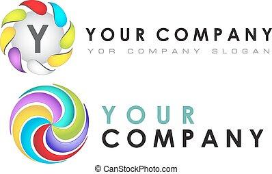 Logo template set, vector, abstract