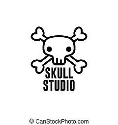 logo template skull