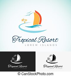 Logo template tropical resort