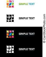 Logo templates. Color tile.