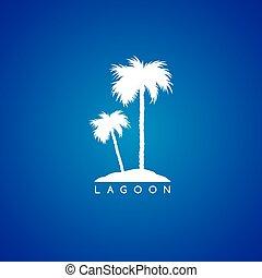 logo, thème, bord mer, plage
