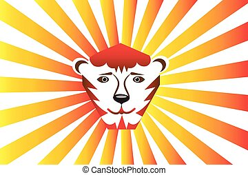 Logo tiger lion wild cat icon