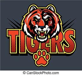 logo, tiger, maskottchen
