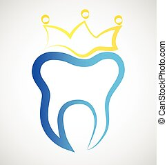 Logo tooth - Tooth stylized vector icon graphic illustration...