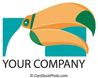 logo, toucan