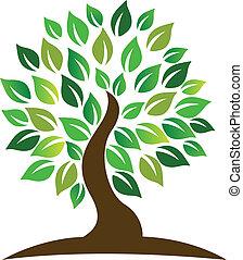 logo, træ