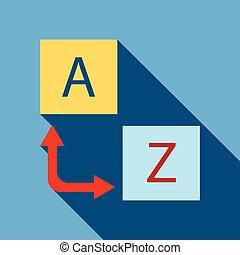 Logo translator icon, flat style