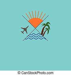 Logo travel agency - Icon traveling. Logo travel agency....