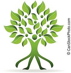 Logo tree ecology man