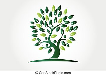 Logo tree ecology people figures