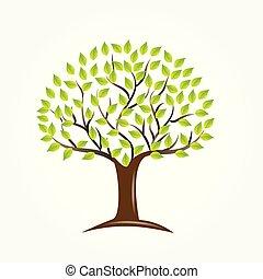 Logo tree ecology symbol icon vector