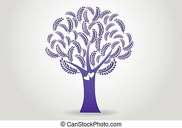 Logo tree floral wedding symbol