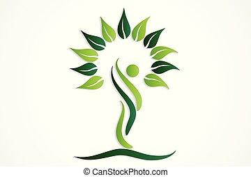 Logo tree people symbol