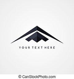 logo, ukradkiem, samolot, samolot, logotype