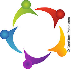 logo, understøttelse, teamwork