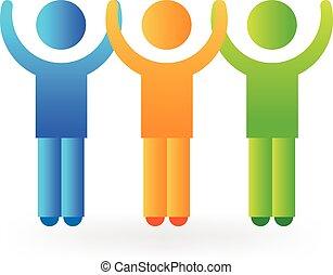 logo, unité, gens