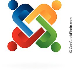Logo unity people teamwork