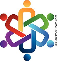 Logo unity people teamwork