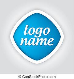 logo, uniwersalny, szablon