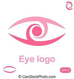 logo, uppfattning, ögon